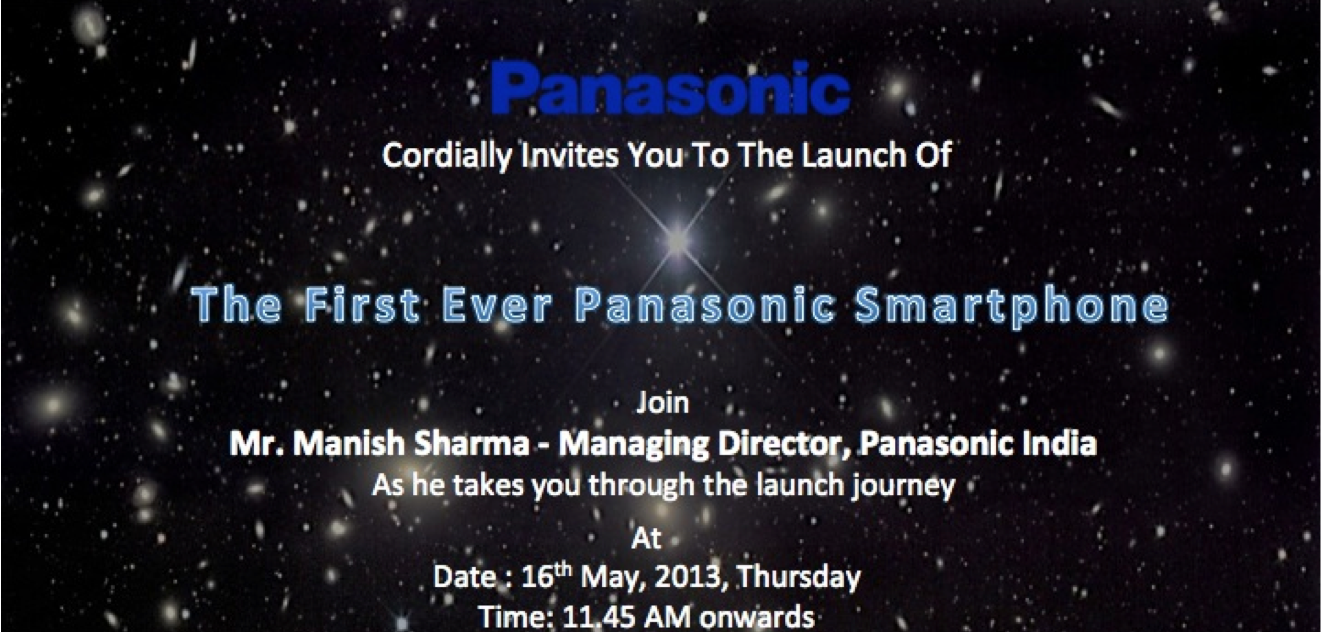 Panasonic to Launch Quad Core P51 in India on May 16th