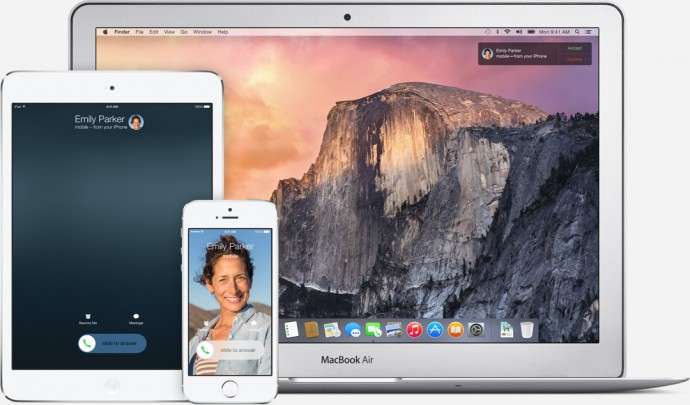 Inter connectivity with OSX is the cornerstone of iOS 8