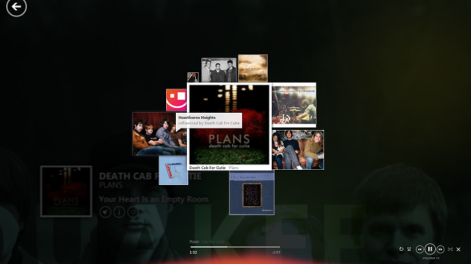 The new UI will be inspired by Zune Mixview