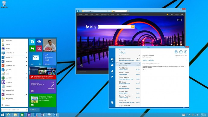 Windows 9 leaks present a refreshing new look while keeping the classic Windows look.
