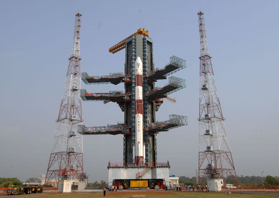 The Satellite was launched through PSLV-C26