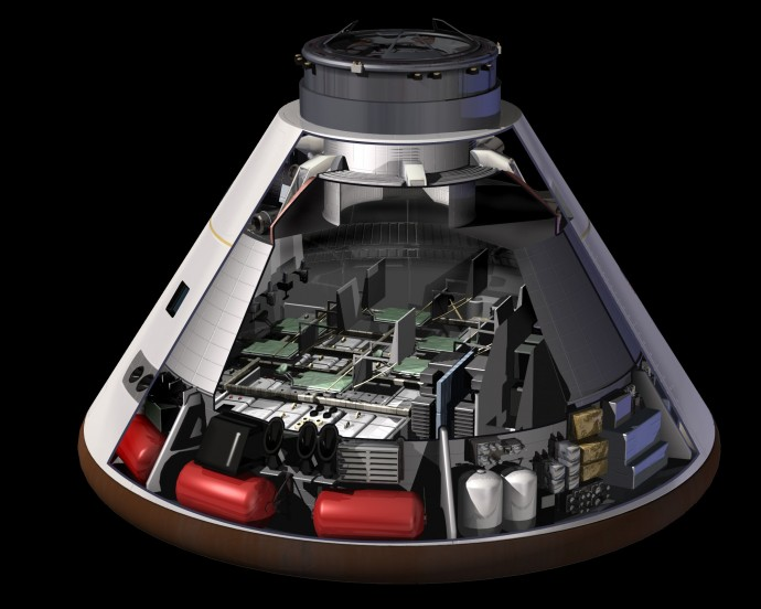 Orion can carry up to six astronauts on an interplanetary voyage.