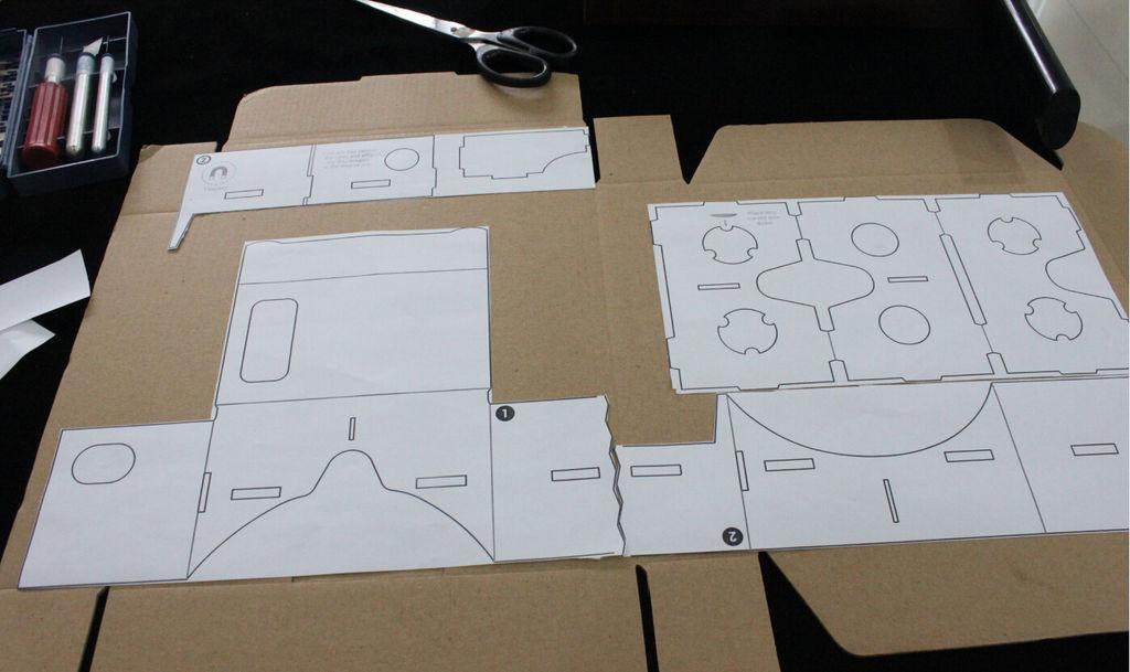 Google cardboard своими руками чертеж