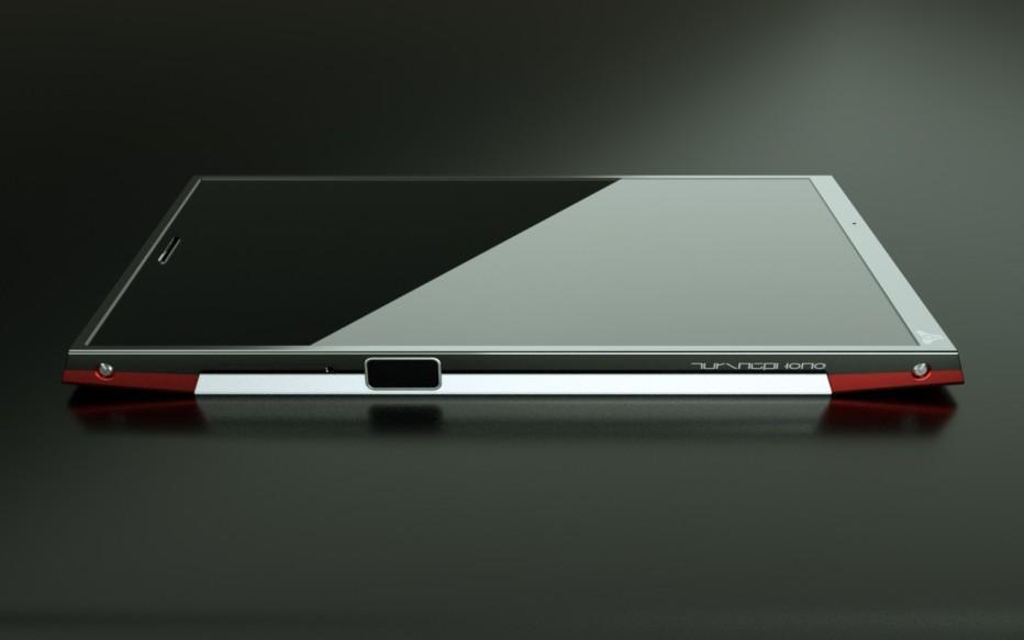 The Turing Phone lacks a headphone jack and USB port. Source: Turing Robotics Industries.