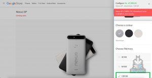 Nexus 6p 5X pricing 5