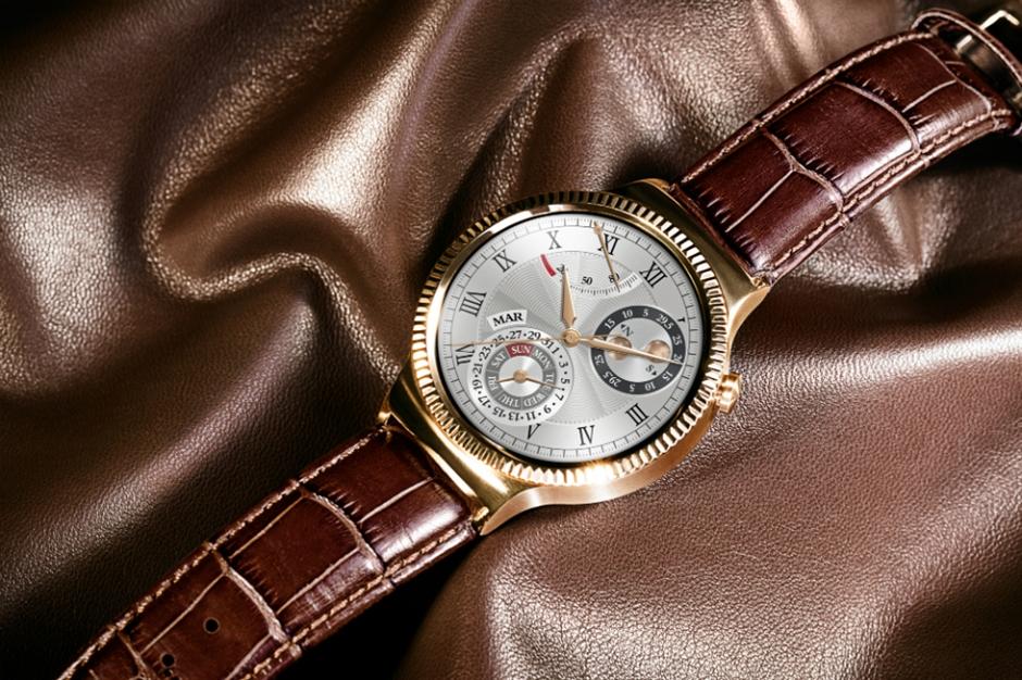 Rose Gold Huawei Watch