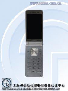 The alleged Samsung SM-W2016 flip phone
