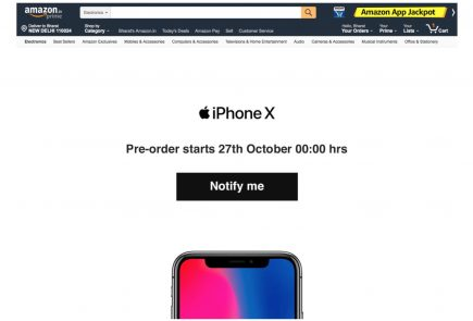 IPhone X will be in stock at Apple stores on November 3rd