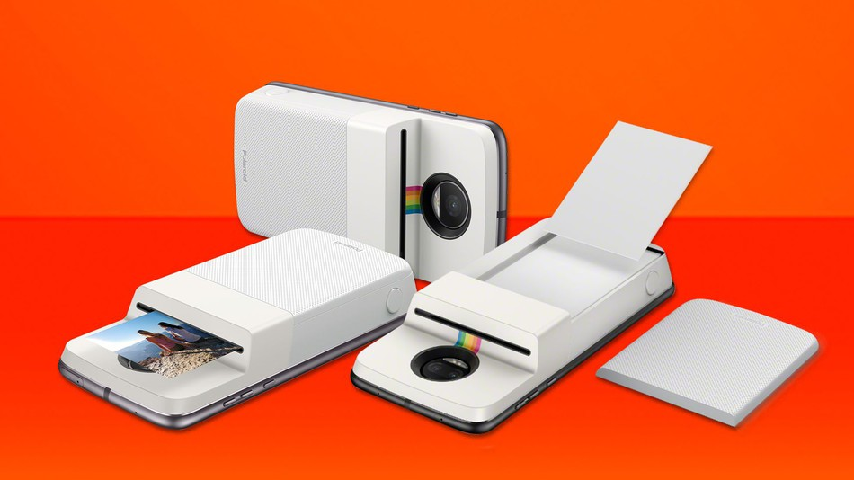Motorola's latest Moto Mod is an Insta-Share photo printer from Polaroid