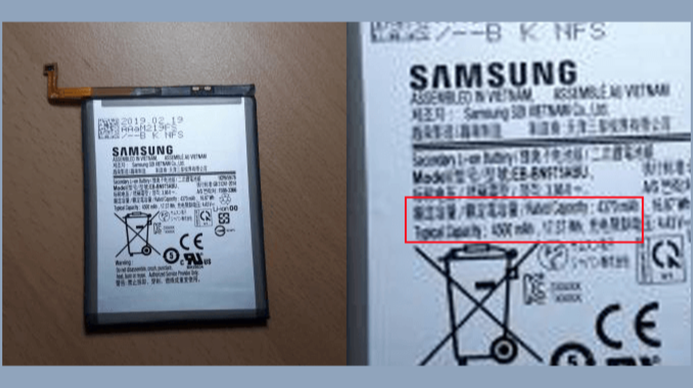 Galaxy Note 10 Leaked Battery