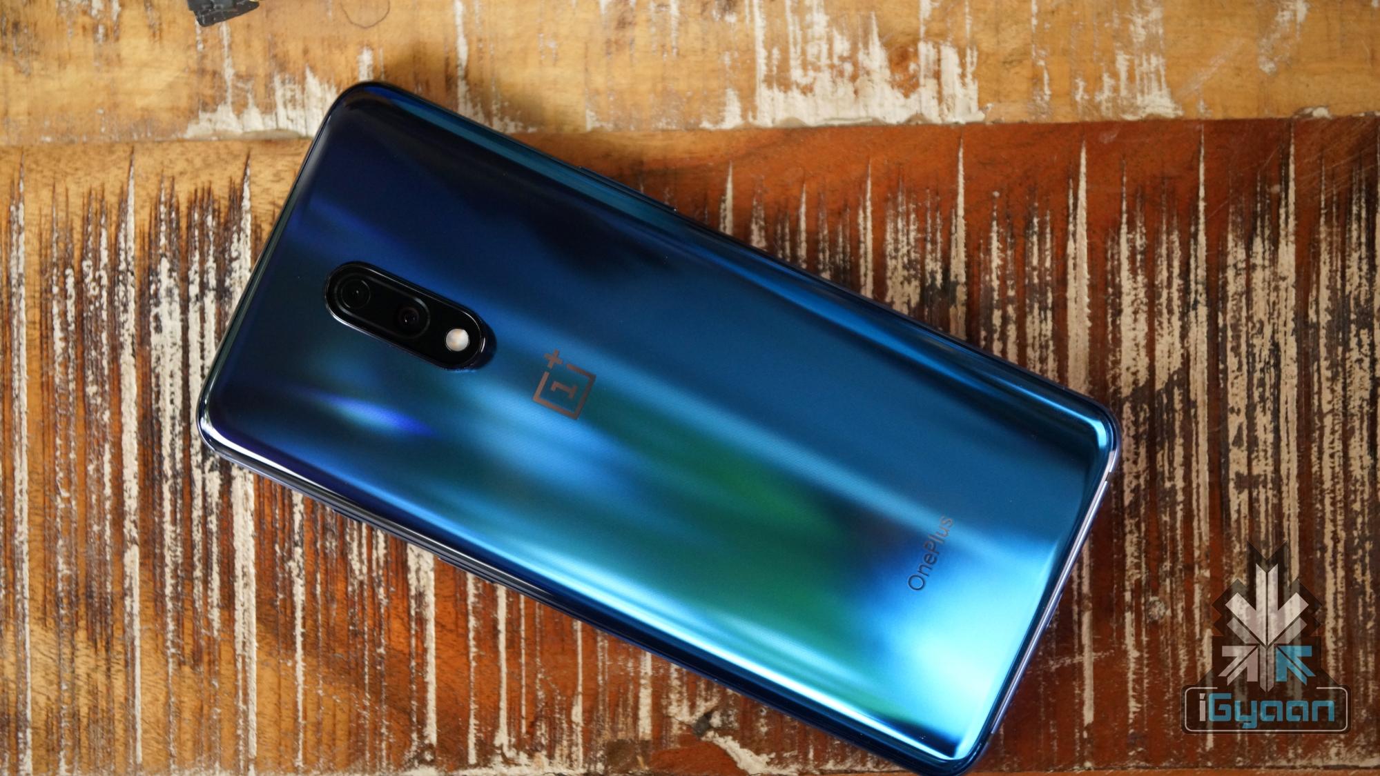OnePlus 7 Mirror Blue Back